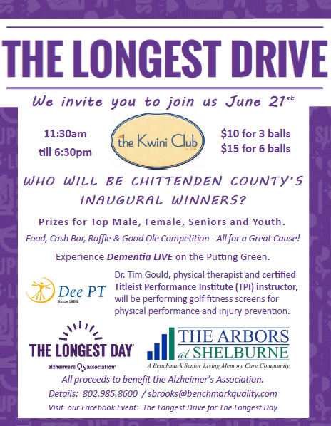 The Longest Drive: Event to Benefit the Alzheimer's Association